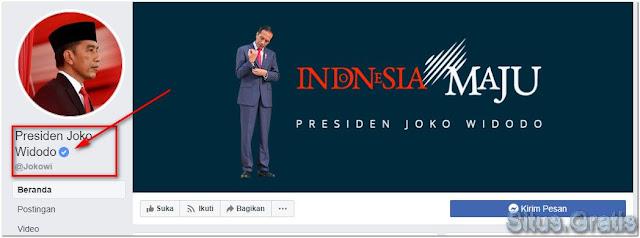 Halaman Facebook Lencana Biru