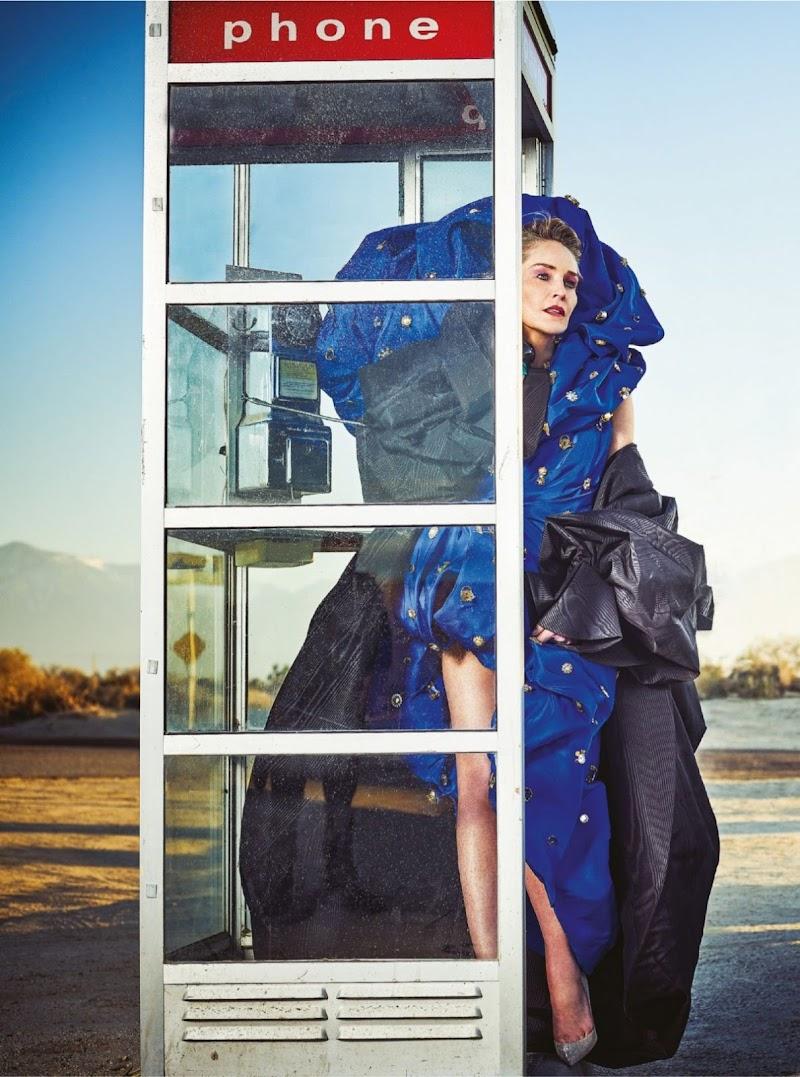 Sharon Stone Featured in Harper's Bazaar Magazine -India March 2020