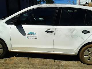 Um Volkswagen modelo Up também foi roubado pela quadrilha. Foto: Rondoniaovivo