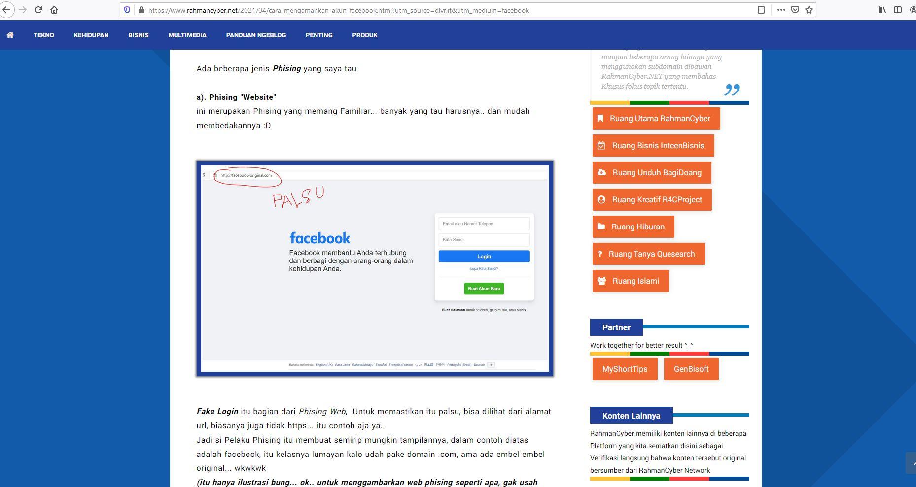 Mengatasi Phising Website