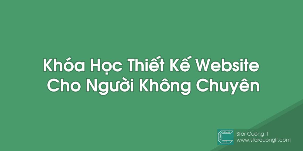 Khoa hoc thiet ke website cho nguoi khong chuyen