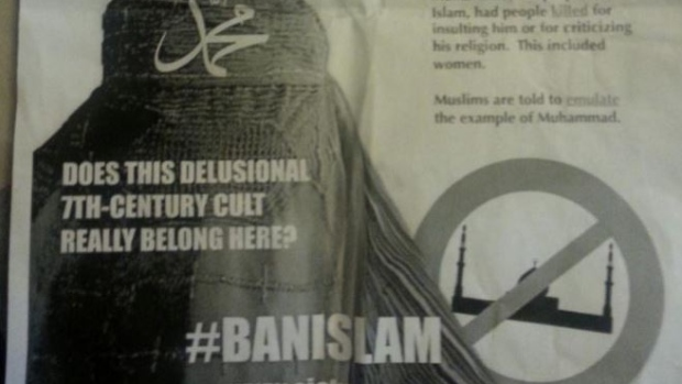 Ban Islam Poster in Edmonton