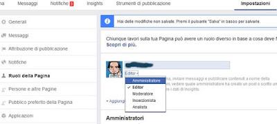 Come aggiungere un amministratore ad una pagina facebook