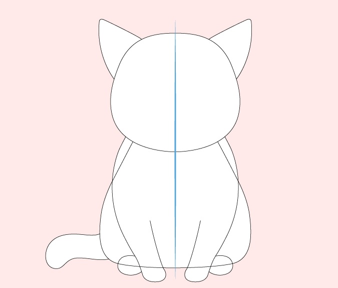 Kaki kucing anime, gambar ekor dan telinga