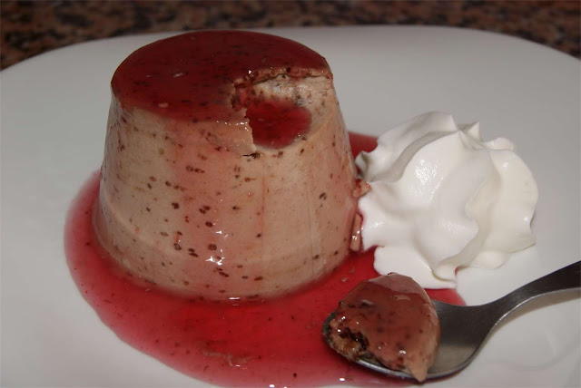 receta de panna cotta de chocolate