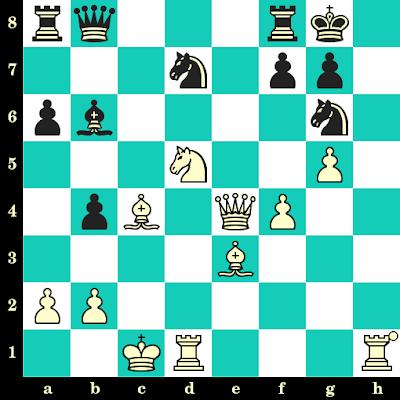 Les Blancs jouent et matent en 2 coups - Lazaro Bruzon vs Thomas Willemze, Marina d'Or, 1998