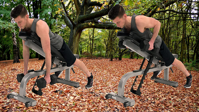 Chest-supported Dumbbell Row