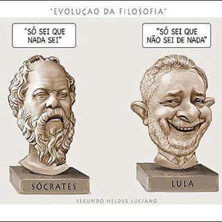 Pensamento de Sócrates Inácio Lula da Silva- filósofo pernambucano de origem grega
