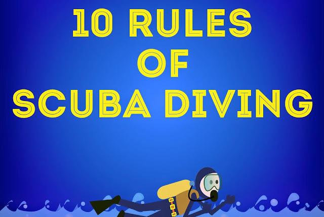 10 Peraturan Ketika Menyelam