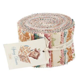 Tilda Spring Diaries Roll (balíček 24 látok 6cm x 110cm)