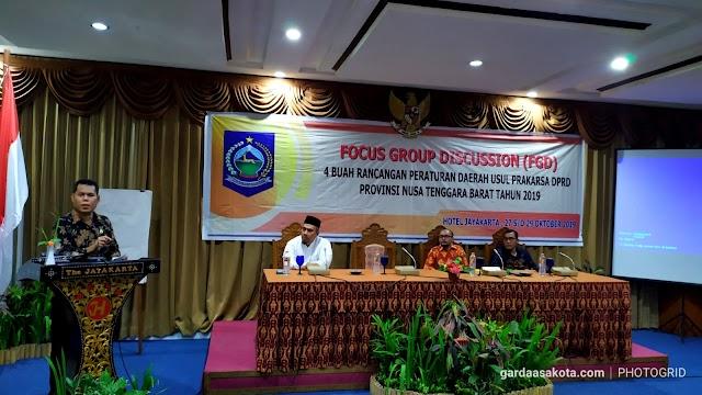 FGD Empat Ranperda Ditutup, Sejumlah Rekomendasi Dihimpun Bapemperda DPRD NTB