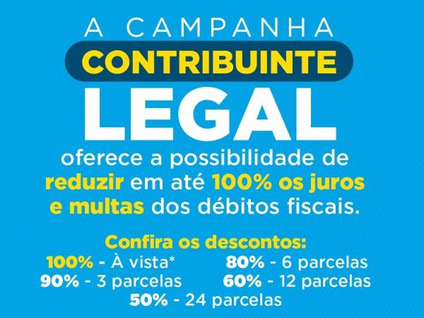 """Prefeitura facilita negociação de dívidas através da campanha """"Contribuinte Legal"""""""
