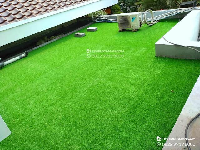 rumput sintetis - taman atap