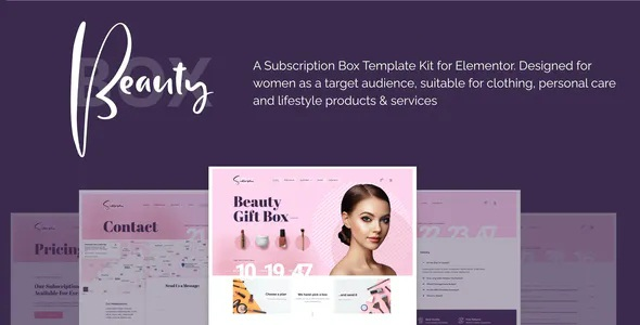 Best Subscription Box Elementor Template Kit