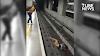 Homem cai nos trilhos do Metrô em SP e maquinista consegue parar o trem a tempo