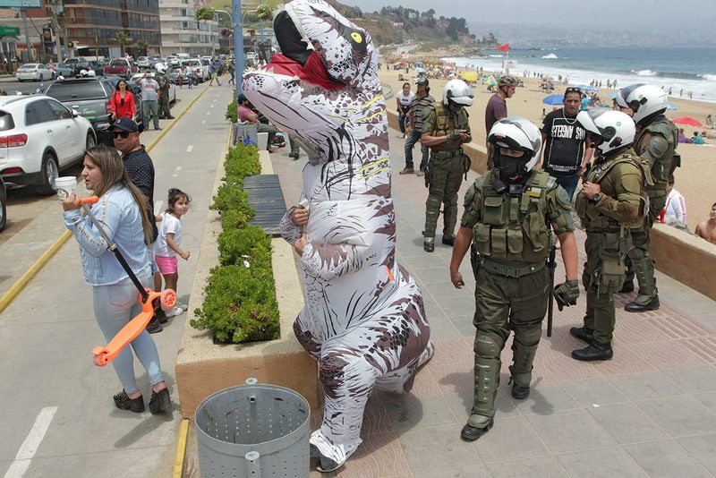 Llamado convocó a más carabineros que manifestantes en Reñaca