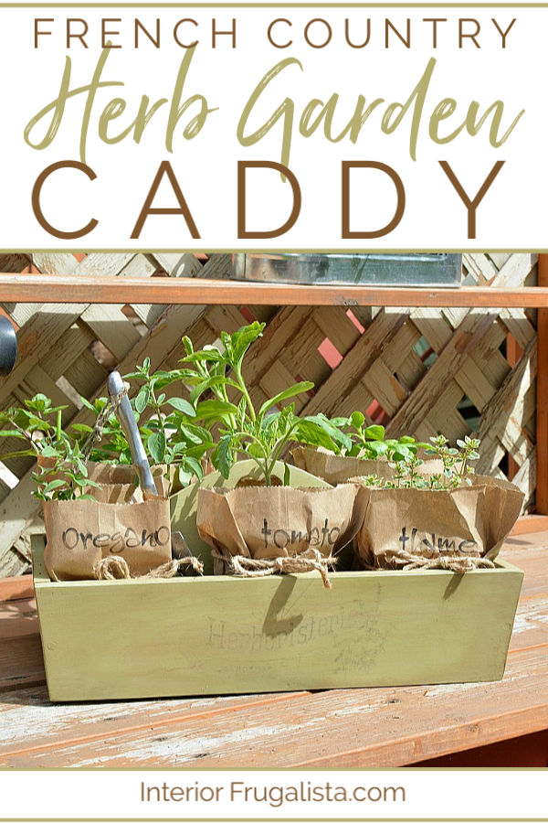 French Country Herb Garden Caddy