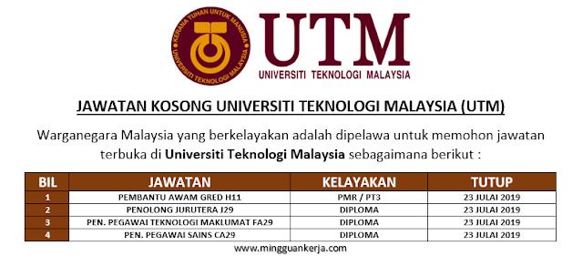 Jawatan Kosong Terkini Taraf PMR / PT3 - DIPLOMA di Universiti Putra Malaysia Kuala Lumpur