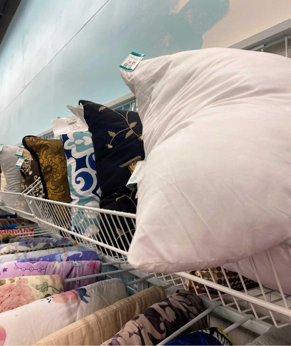 pillows thrift shop