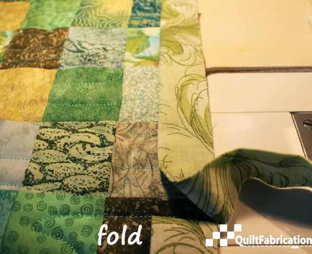 smooth binding to beginning fold