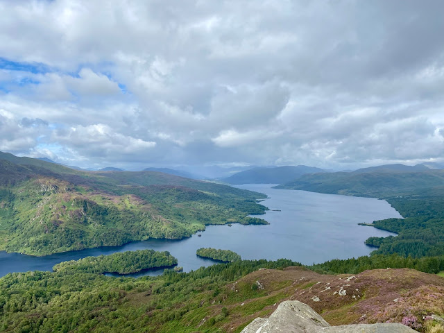 Loch Katrine from the top of Ben A'an, Trossachs National Park, Scotland