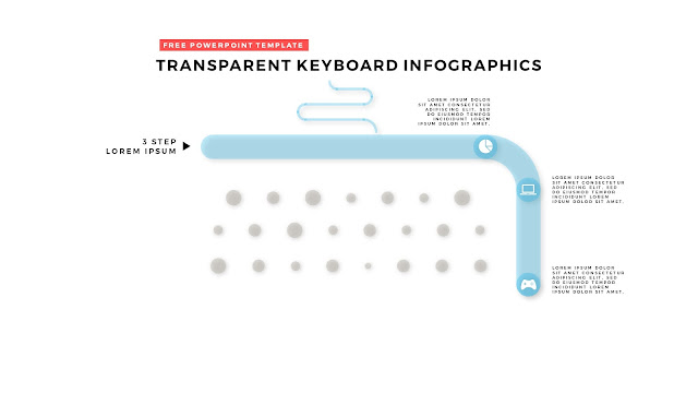 Free PowerPoint Design Elements with Transparent Keyboard Infographics Slide 7