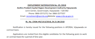 AP CRDA GIS & Remote Sensing Assistant Recruitment Notification 2018