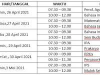 INFORMASI/ SOSIALISASI UJIAN SEKOLAH SMP NEGERI 3 MOJOGEDANG  TAHUN PELAJARAN 2020/2021