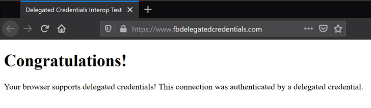 firefox delegated credentials for tls