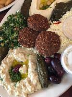 filfillah middle eastern restaurant mazza platter baba ghanouj falafel tabouleh