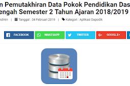 Update Rilies Aplikasi Dapodik Versi 2019.c Operator segera siap-siap
