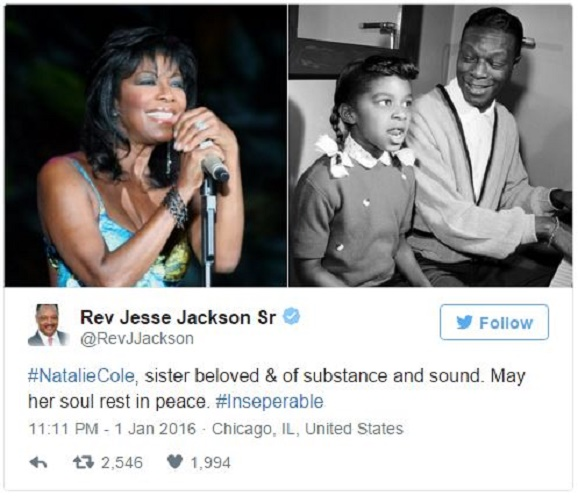 The sad news: the legendary American singer Natalie Cole died at the age of 65 years