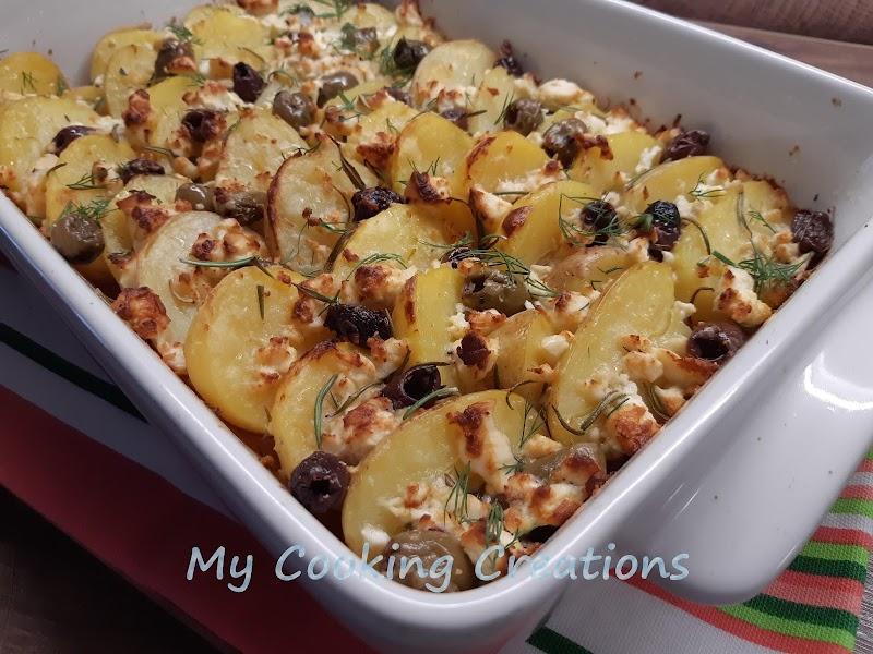 Картофи на фурна с фета и маслини * Patate al forno con olive e feta