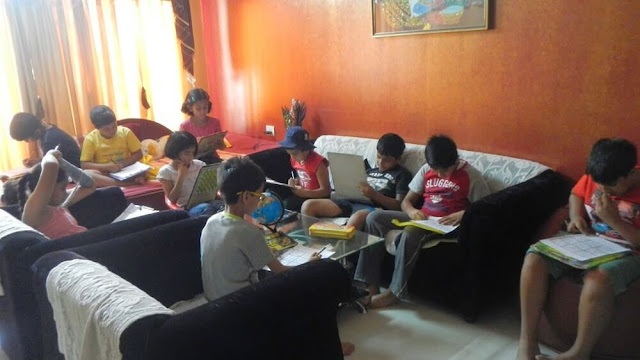 Kids Learning Sudoku and Puzzles during The Science and Fun Learning Camp 2014