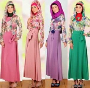 desain baju muslim remaja berbahan brokat