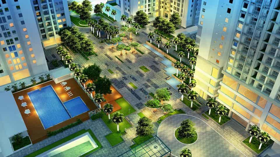 Không gian quảng trường khu Ruby Goldmark City