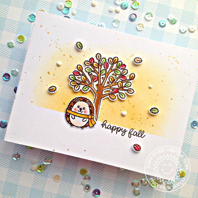Sunny Studio Stamps: Woodsy Autumn Fall Themed Card by Franci Vignoli