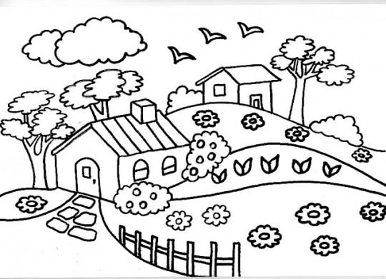 Educación Artística: Paisajes para dibujar y colorear