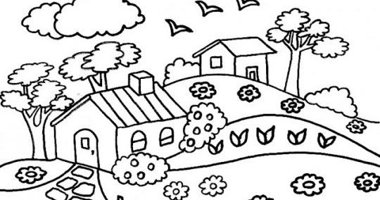 Educación Artística Paisajes Para Dibujar Y Colorear