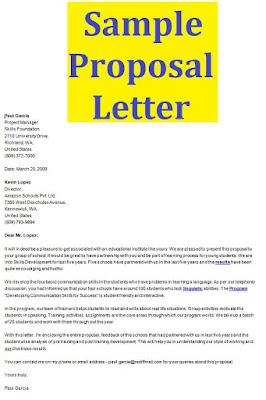 Sample Proposal Letter doc word
