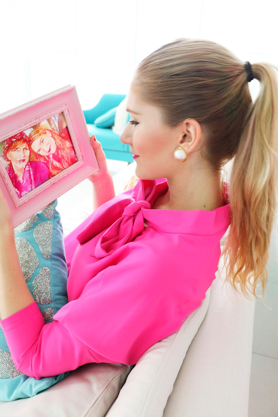 Colorful picture frames are a great way to add pops of color throughout your home