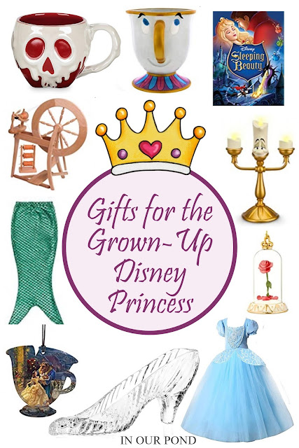Gifts for Grown-Up Disney Princesses // In Our Pond // Disney princess dresses and home decor for adults // Christmas gift guide // Disneyland // Disney World // Holidays at Disney Parks