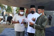 Danrem 051/Wijayakarta Serahkan Hewan Qurban di Masa Pandemi Covid-19