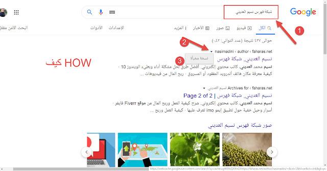 كيفية استرداد المقالات والنسخ المخبأة في نسخ Google المخبأة