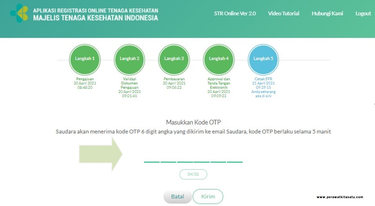 Kode OTP Cetak STR