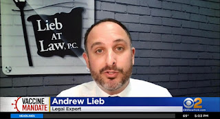 Attorney Andrew Lieb Clarifies Accommodation Rights on Vaccine Exemptions on CBS NY