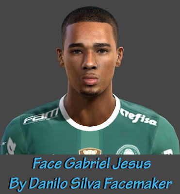 Face + Tattoo Gabriel Jesus - Palmeiras By Danilo Silva Facemaker