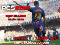 PES 2017 Option File untuk PTE Patch 6.5.3 update 5/11/2018