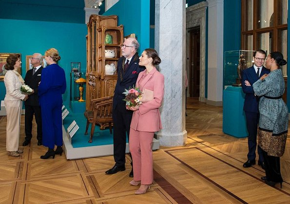 Crown Princess Victoria wore Rodebjer Nera pink suit. Princess Victoria wore a new blazer and trousers by Rodebjer. Queen Silvia