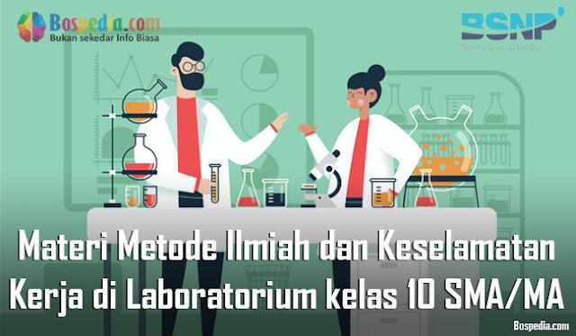Materi Metode Ilmiah dan Keselamatan Kerja di Laboratorium kelas 10 SMA/MA